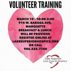 Volunteer Training @ Lake Superior Life Care & Hospice